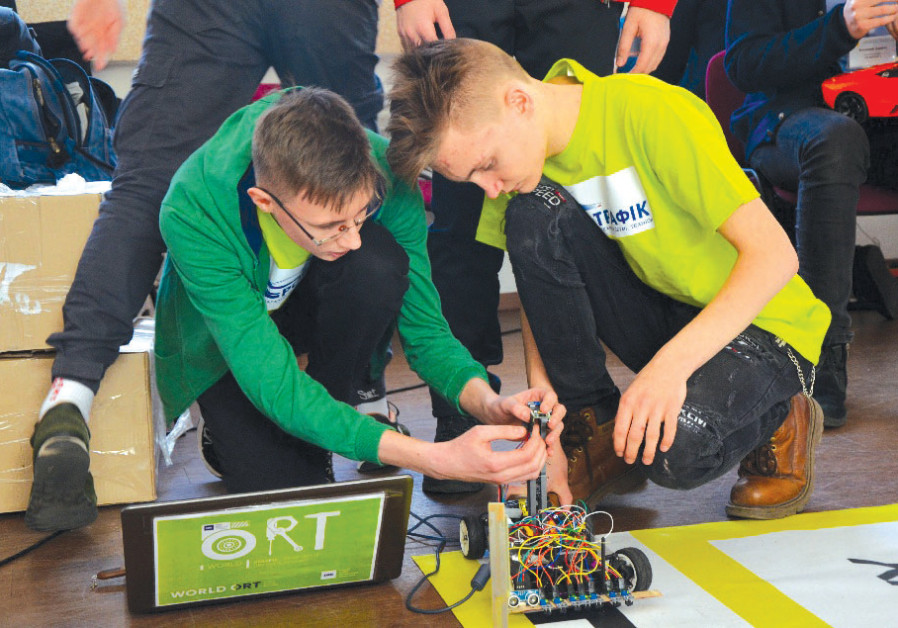 World ORT students receive Jewish education alongside leading STEM technology studies. (Courtesy)