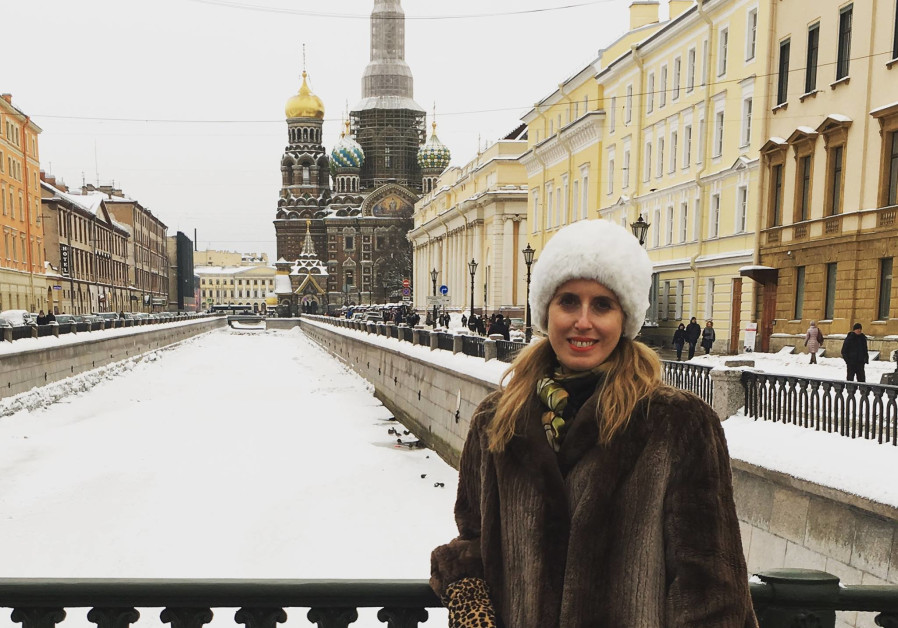 Jerusalem Post Magazine editor Erica Schachne in Saint Petersburg, Russia (Courtesy)