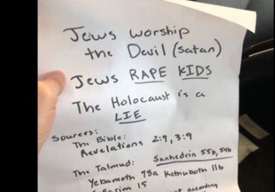Antisemitic flyer found on California cars