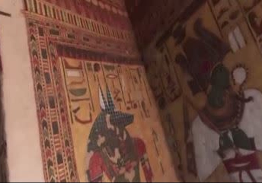 Screenshot of video of ancient Egyptian tomb