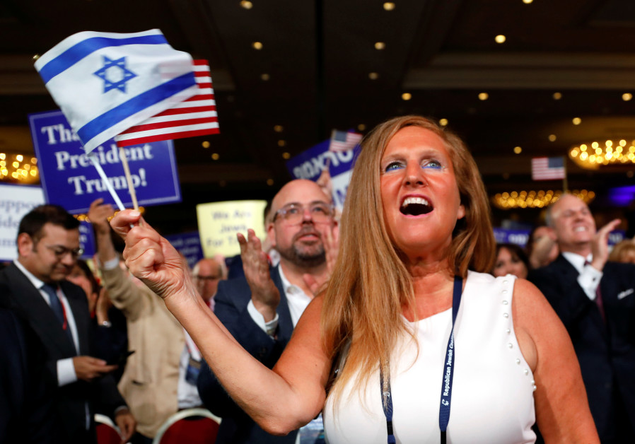 A supporter cheers as U.S. President Donald Trump addresses the RJC on April 6, 2019
