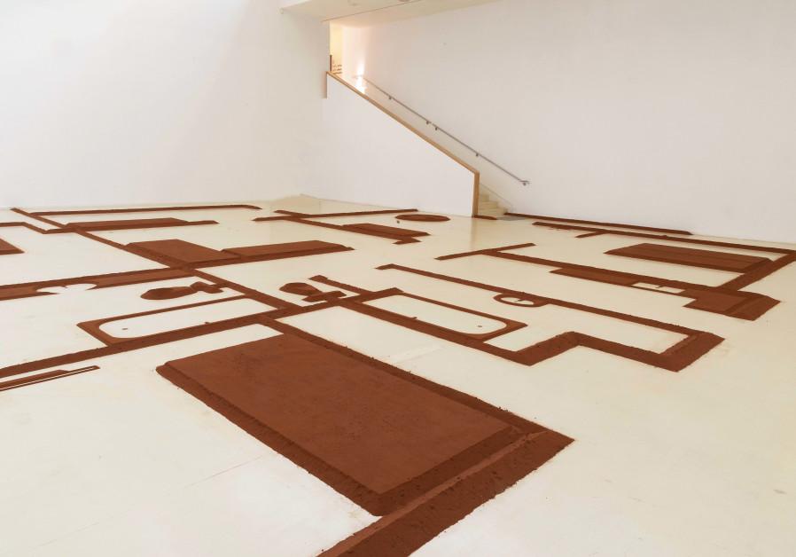 Micha Ullman's exhibition Semi-Detached (credit: Avraham Hay)
