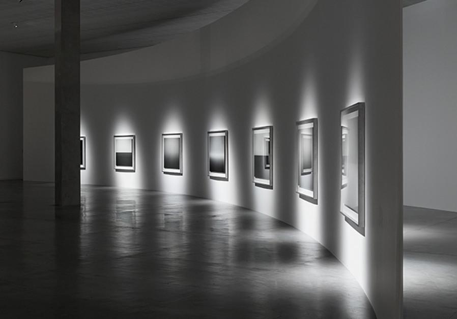 Part of Hiroshi Sugimoto's exhibition (credit: Elad Sarig)