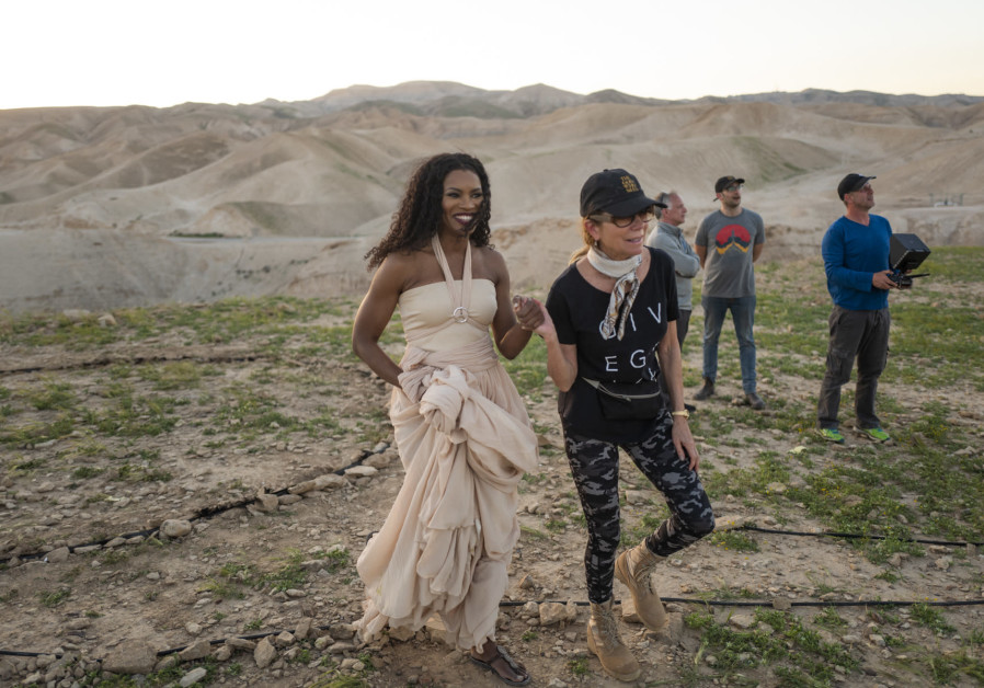 NICOLE MULLEN (left) and Kathie Lee Gifford on set of filming in Israel last month