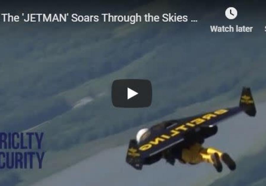 'Jetman' soars through the skies.