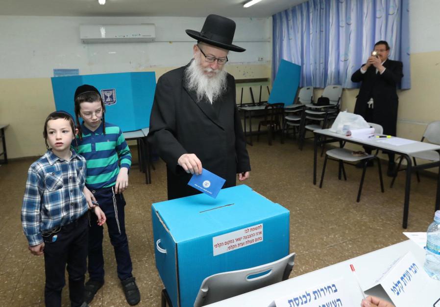 Yaakov Litzman voting