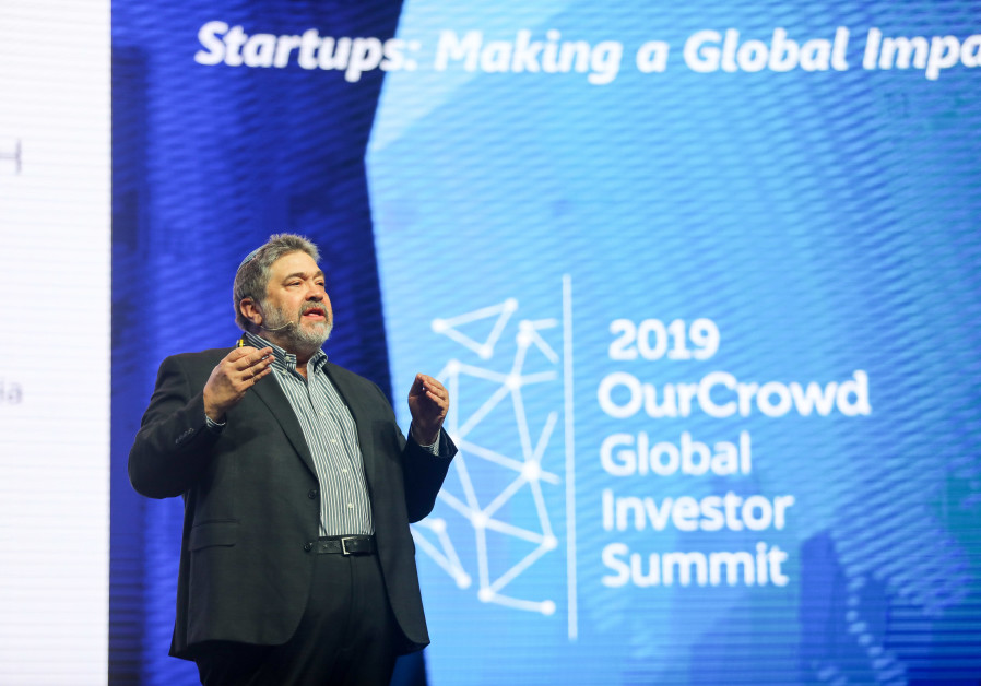 OurCrowd founder & CEO Jon Medved addresses the 2019 OurCrowd Global Investor Summit, March 7, 2019