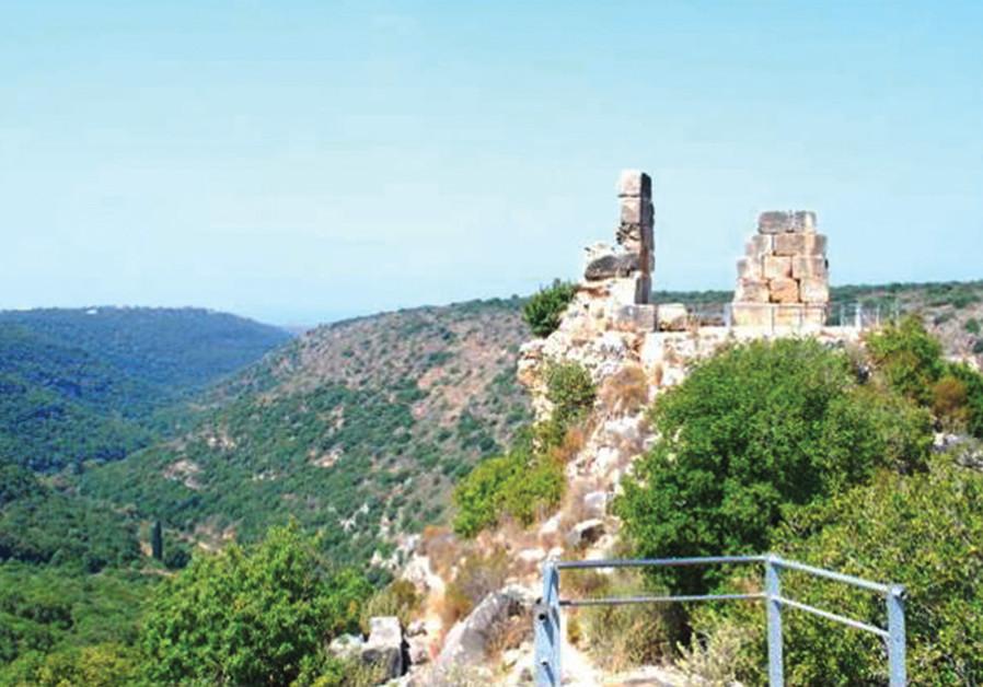Nahal Kziv and Montfort Castle. (Meital Sharabi)