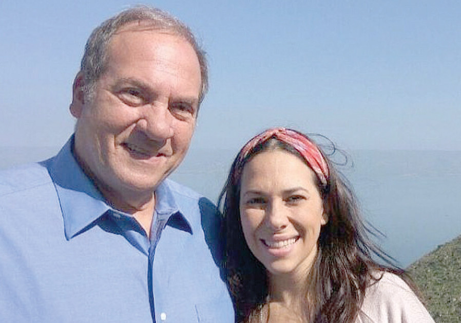 Rabbi Eckstein and his daughter Yael at Mount Arbel (IFCJ)