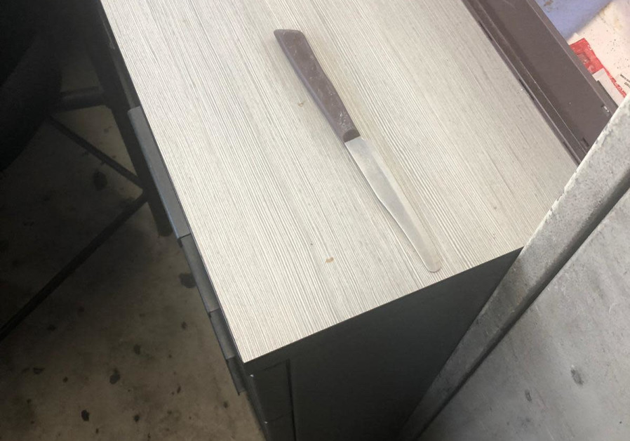 Knife from attempted stabbing attack at A'Zaim