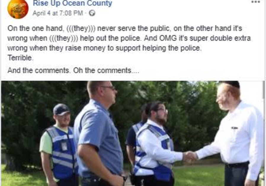 Rise Up Ocean County spews antisemitism on its Facebook page.