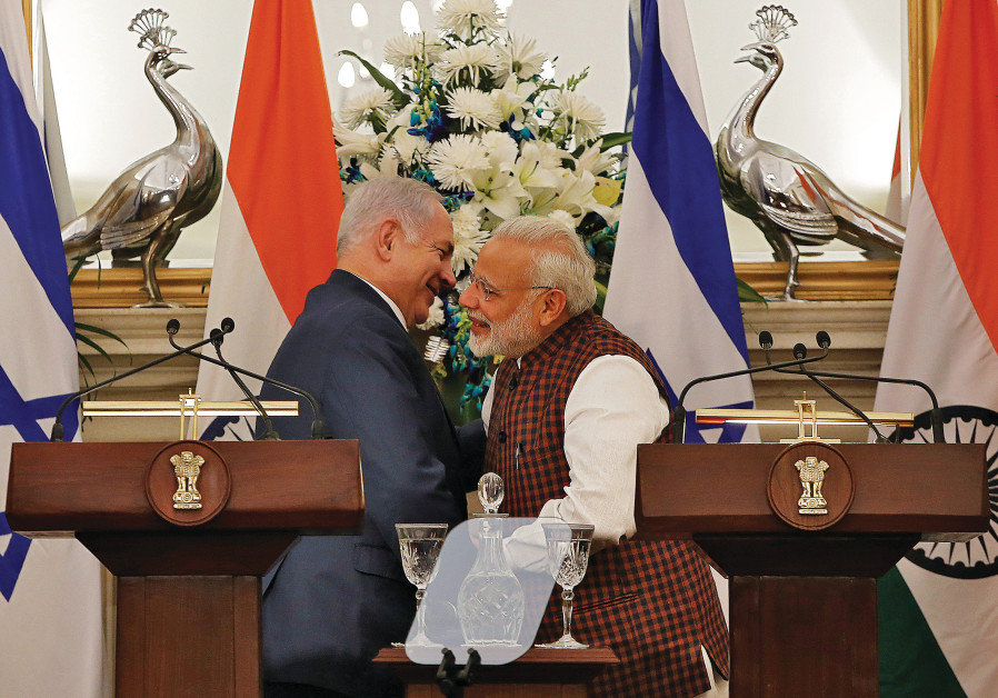 PRIME MINISTER Benjamin Netanyahu and his Indian counterpart Narendra Modi