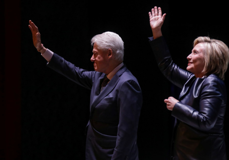 Former Secretary of State Hillary Clinton and former President Bill Clinton, New York, 2019.