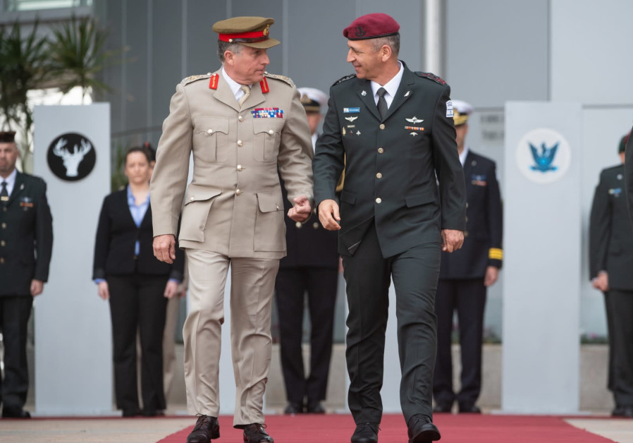 Gen. Sir Nick Carter landed in Israel Sunday for meetings with senior IDF officers
