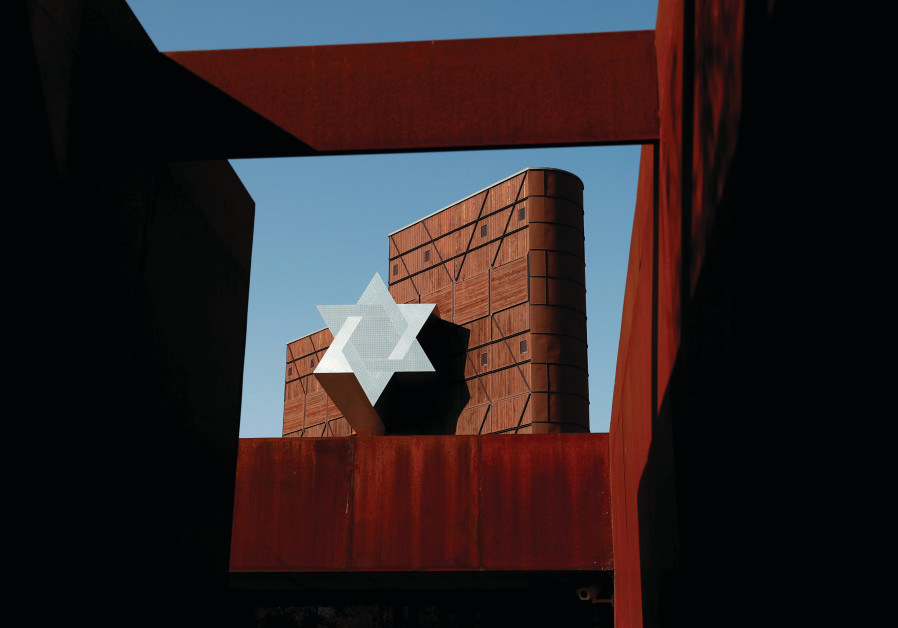 A STAR of David is seen at the new Holocaust museum called the House of Fates in Budapest, Hungary,