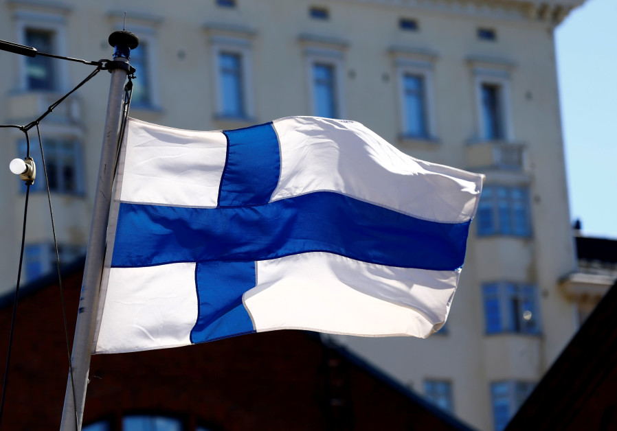 Finland's flag flutters in Helsinki, Finland, May 3, 2017