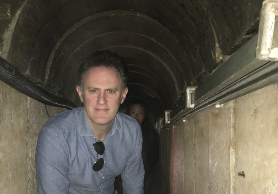 Ambassador Sales inspects Hamas tunnels 8 meters deep under the Israel Gaza border