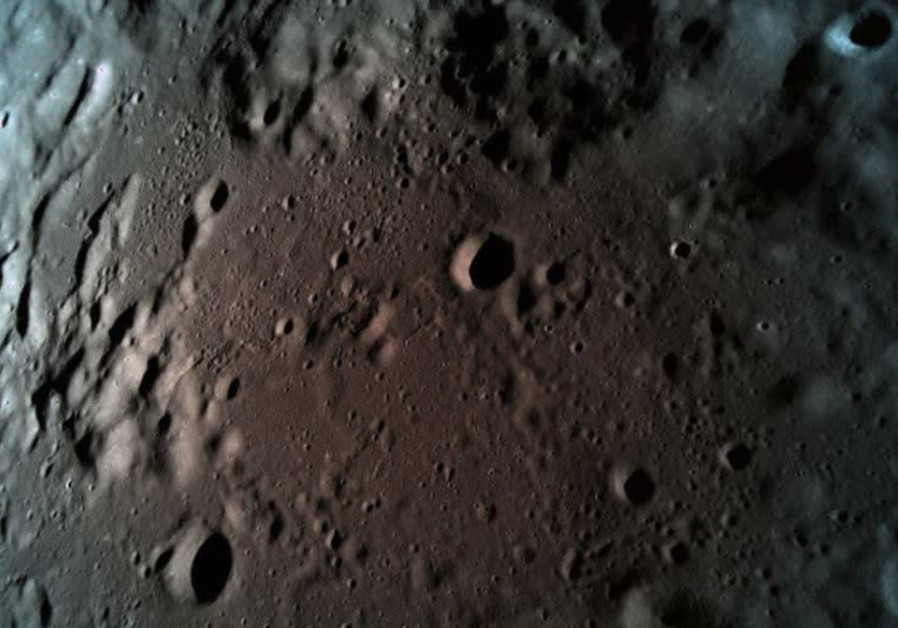The last photograph taken by Beresheet of the Moon was taken at 15 km. Altitude (SPACEIL)