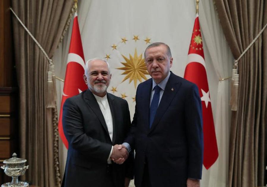 urkish President Tayyip Erdogan meets with Iranian Foreign Minister Mohammad Javad Zarif in Ankara