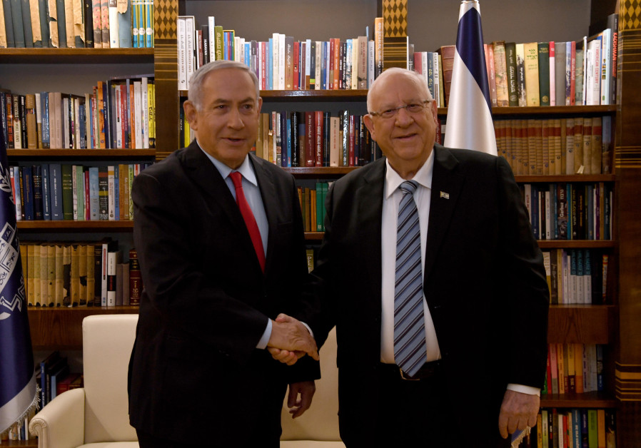 President Rivlin meets with Prime Minister Benjamin Netanyahu at his residence in Jerusalem