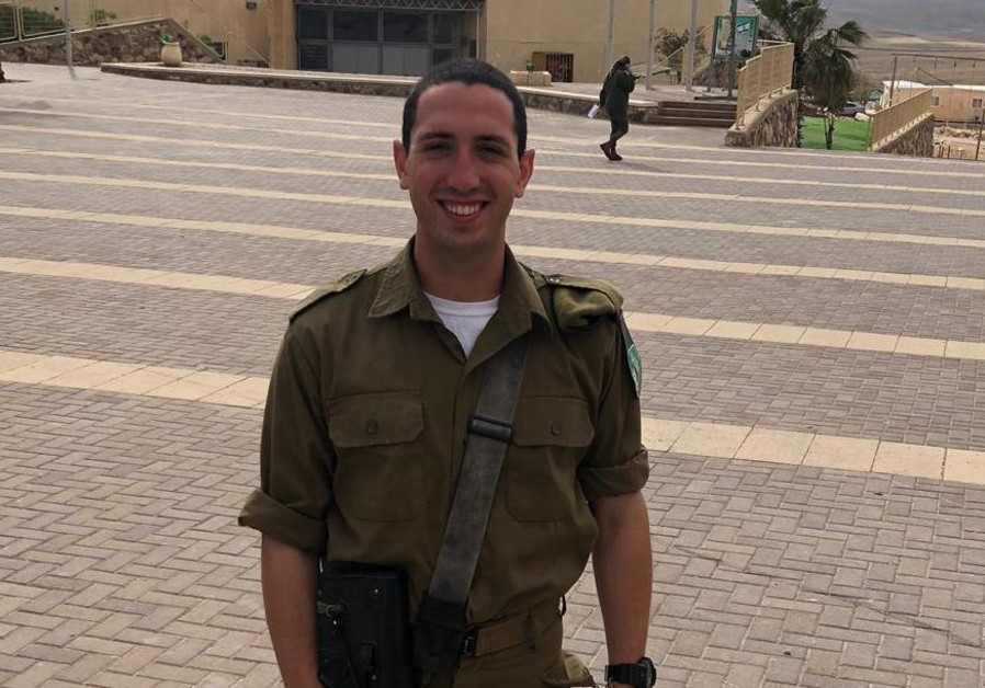 Harel Mizrahi, a lone soldier from Seattle, will continue serving in the army over Passover. (IDF Spokesman's Unit)