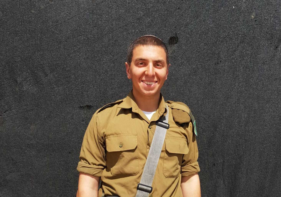 Jacob Weiner, a lone soldier from Connecticut, will continue serving in the army over Passover. (IDF Spokesman's Unit)