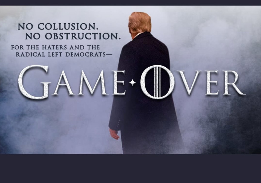 The picture President Donald Trump tweeted in response to the release of the Mueller report