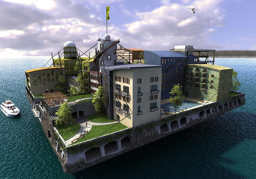 A seasteading design contest winner, initiated by the Seasteading Institute