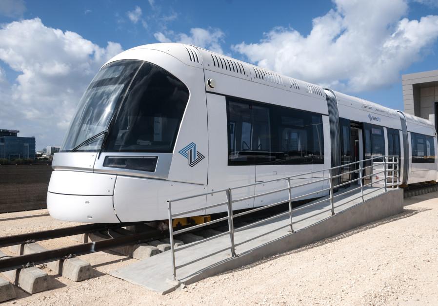 Tel Aviv light rail train car