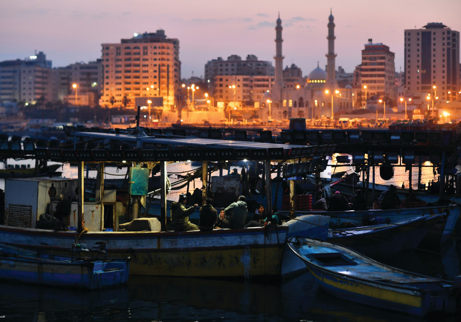 EVENING IN the port of Gaza