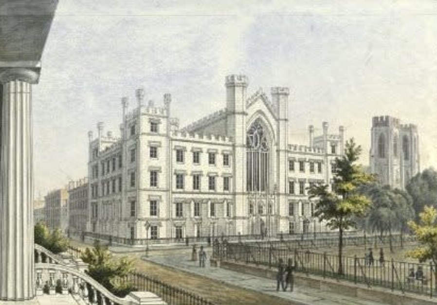 New York, University Bulding and Dutch Reformed Church in Washington Square, 1850