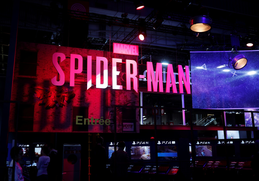 The Marvel's Spider-Man booth is seen at the Paris Games Week (PGW), in 2018