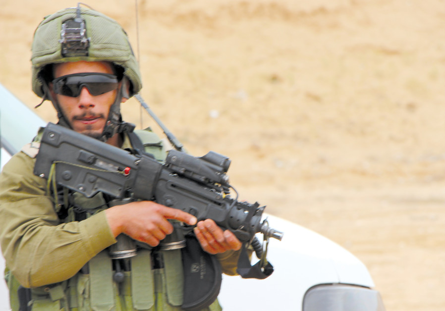 A day training with Israeli-Arab soldiers who play a key role defending the Gaza border
