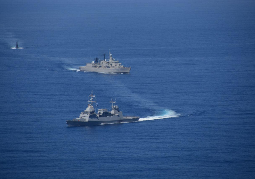 Israeli ships during Nobel Dina 2019