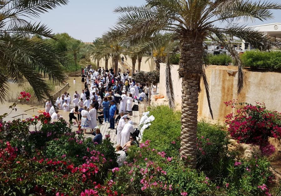 Coptic Easter baptism ceremony