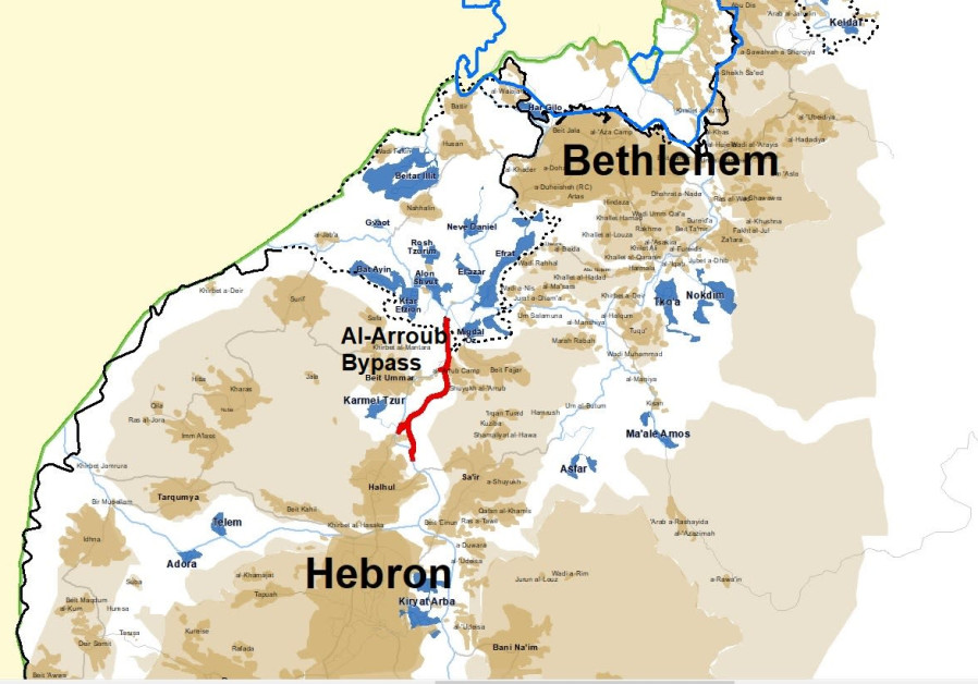 IDF to confiscate Palestinian land for a new Gush Etzion-Hebron road