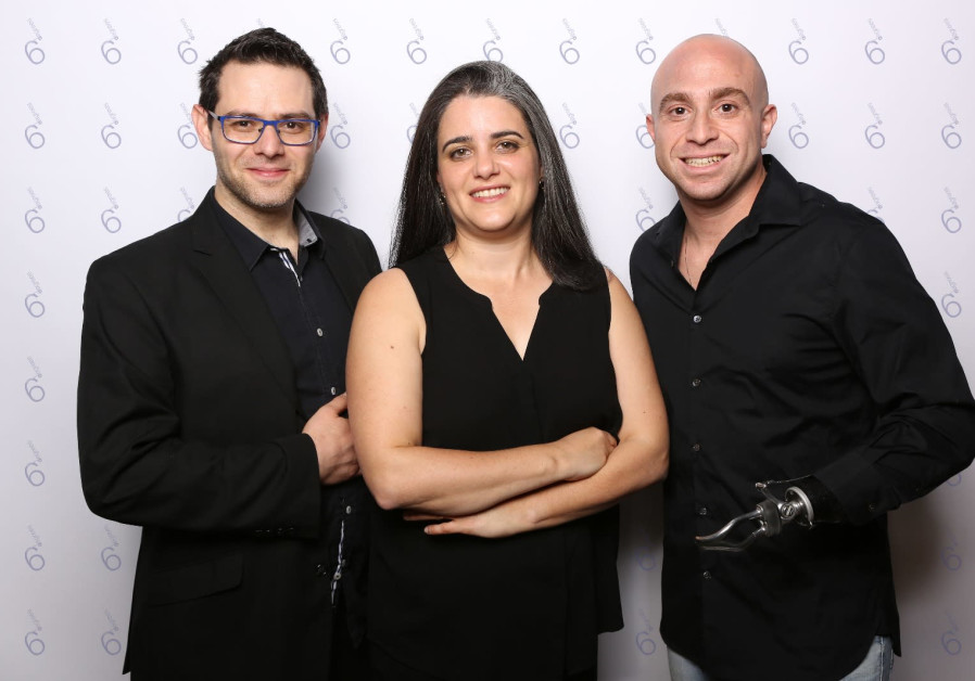 6Degrees co-founders Aryeh Katz (L), Miri Berger (C) and Ziv Shilon (R).