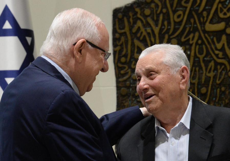 President Reuven Rivlin and Holocaust survivor Yosef Hershkovich