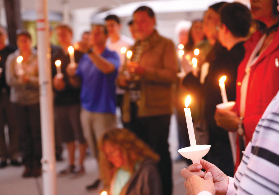 A VIGIL for victims of an attack on a synagogue in California