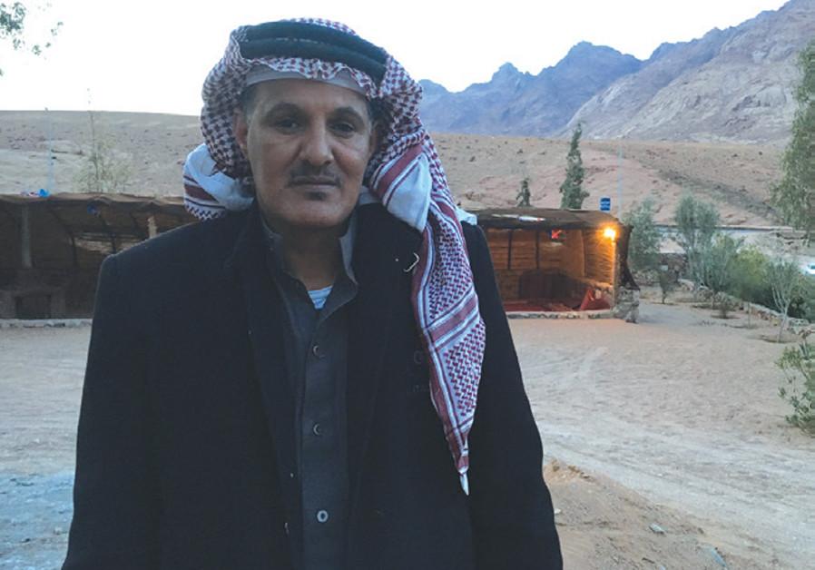 Sheikh Ahmed of the Jabaleya tribe at the Desert Fox Camp near Mt. Sinai (photo: JOHN COLIN MARSTON / SAINT CATHERINE)