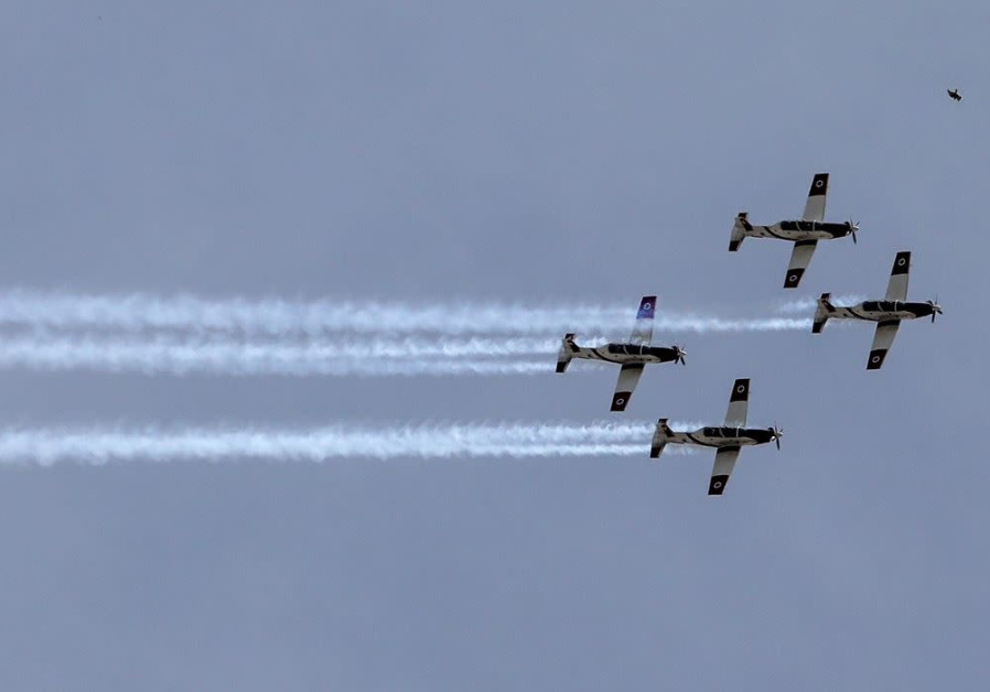 IAF aerobatic team zooms over the capital ahead of Independence Day