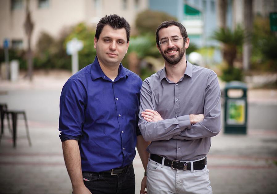 Cynerio CEO Leon Lerman (left) with CTO Daniel Brodie. (Credit: MORI PHOTOGRAPHY)