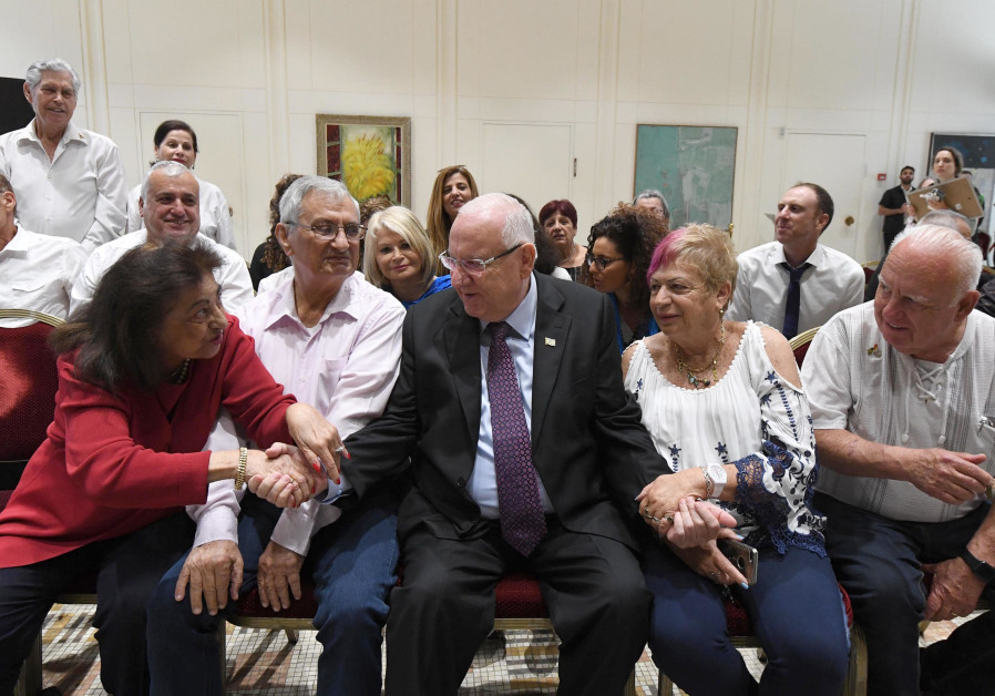 President Reuven Rivlin hosts bereaved families and heads of Yad Labanim branches