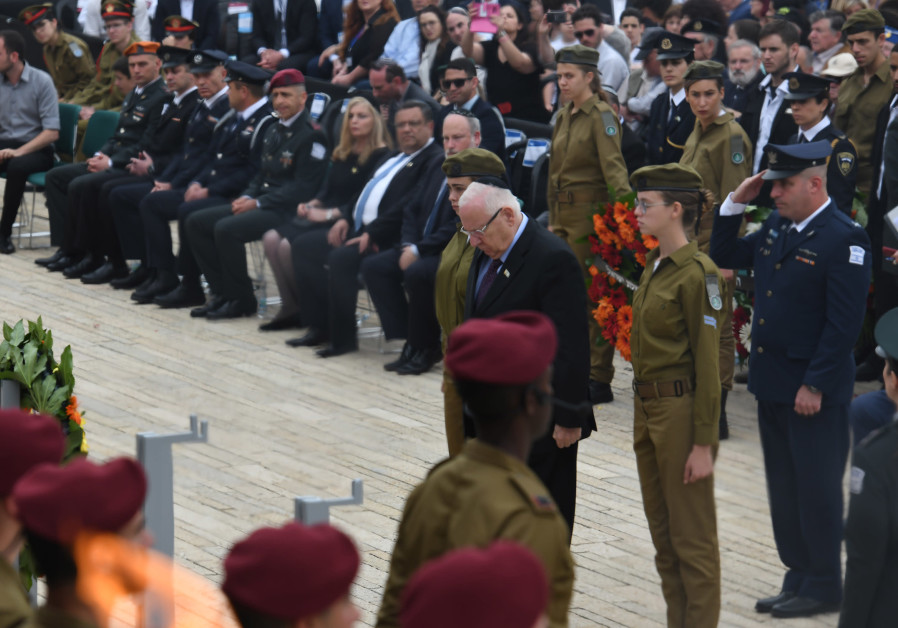 President Rivlin laid a wreath at the Yom HaShoah (Holocaust Heroes' and Martyrs' Remembrance Day) c