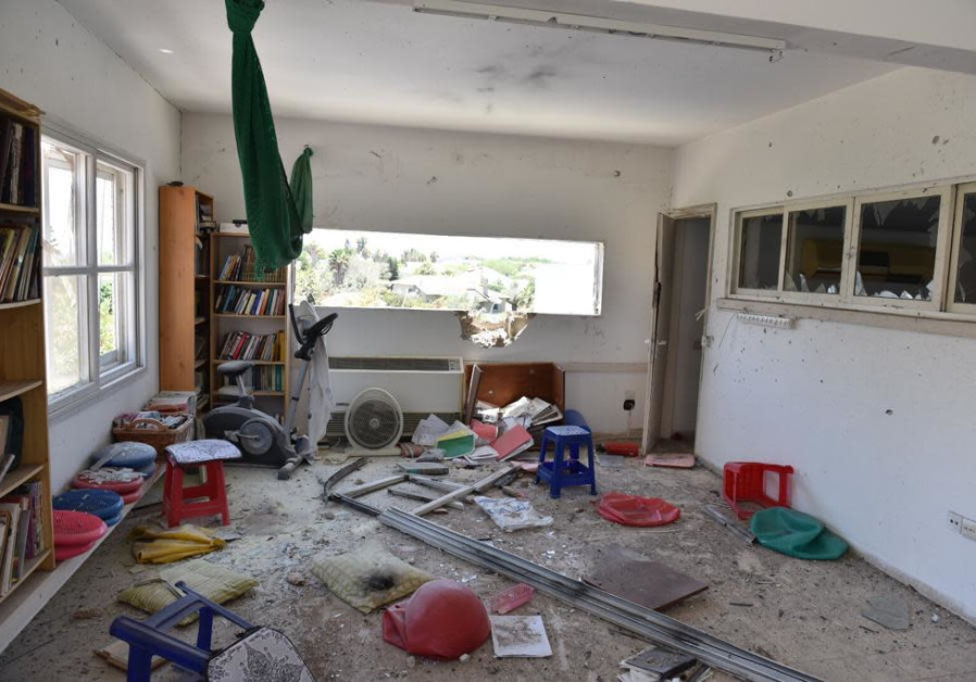 The house in Ashkelon hit by a rocket fired from Gaza
