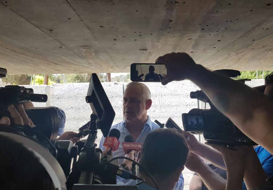 Benny Gantz in Yad Mordechai at the Gaza Border on May 5th, 2019