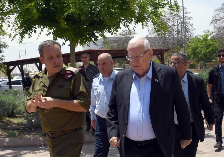 President Rivlin at Gaza Division - 5 May 2019