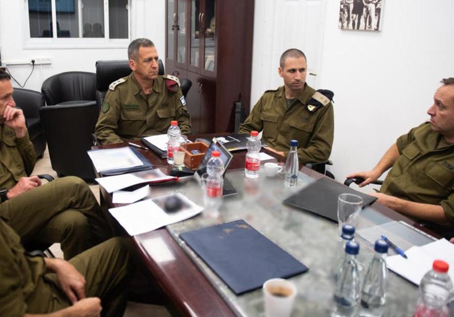Chief of Staff Aviv Kochavi joins a Gaza Division briefing, 2019.