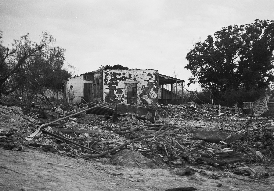 A HOUSE on Kibbutz Gesher destroyed by the Syrian Army  during the War of Independence. (Credit: GPO)