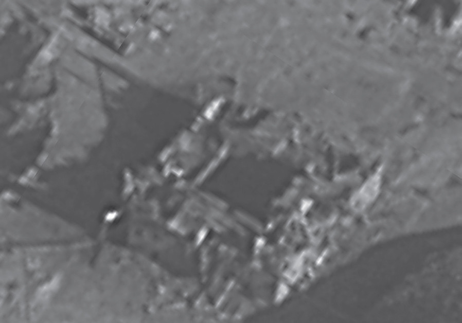 THE SITE of the Syrian nuclear reactor before. (Credit: IDF SPOKESMAN'S UNIT)